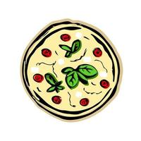 pizza on white background vector