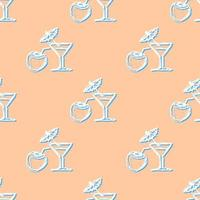 cocktail seamless colored background vector