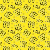 flip flops seamless pattern vector