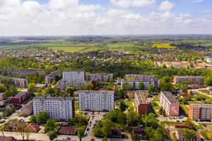 Dobele city, industrial and residential buildings photo