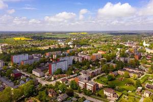 Dobele city, industrial and residential buildings, Latvia photo