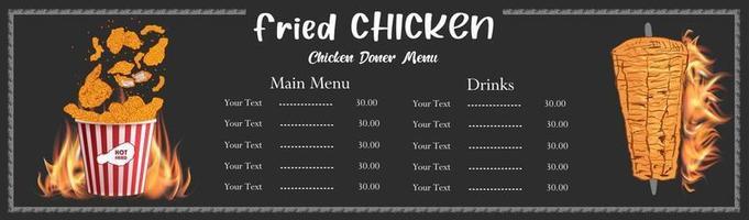 Fast food menu design elements. vector