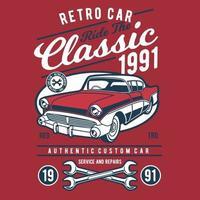 Retro Classic Car Vintage Badge Design vector