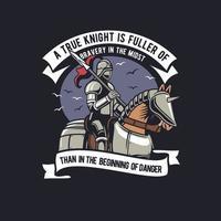 True Knight ride Horse vector