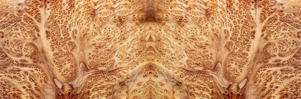 naturaleza salao burl madera a rayas, exótico hermoso patrón de madera para manualidades o textura de fondo de arte abstracto foto