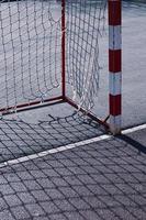 old street soccer goal sport equipment photo