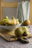 la composición de la mesa de comida saludable foto