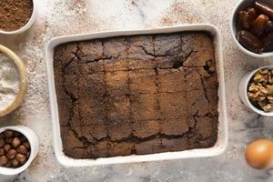 The arrangement delicious cocoa healthy recipe photo