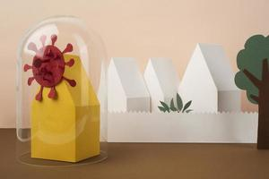 Composition of paper style isolation still life photo