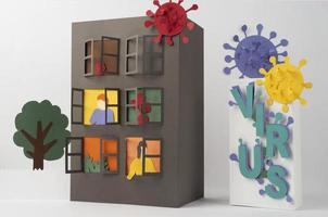 Composición de bodegón de aislamiento de estilo de papel foto