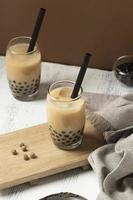 Arrangement with delicious traditional thai tea photo