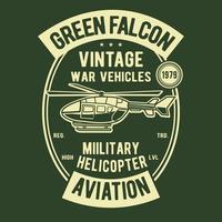 Green Falcon Vintage Badge Design vector