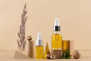 The argan oil dropper bottle arrangement photo