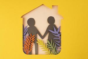 el aislamiento del estilo de papel bodegón foto