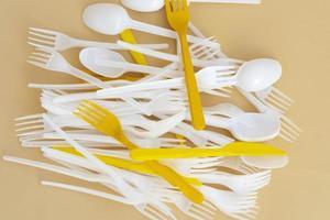 Composición del concepto de desperdicio cero para la limpieza foto