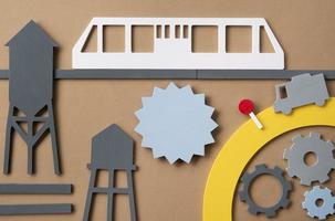 concepto de transporte urbano con tranvía. foto