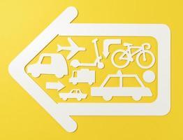 concepto de transporte urbano con vehículos. foto