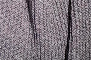 textura de bufanda marrón tejida foto
