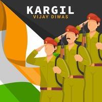 Soldier Honour Kargil Vijay Diwas vector