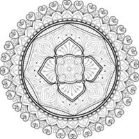mandala design for book coloring page vector