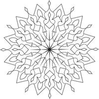 Kids Mandala Design for Coloring Page vector