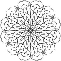 Coloring Pages Mandala Design for kids vector
