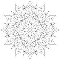 kids coloring page Mandala Design vector