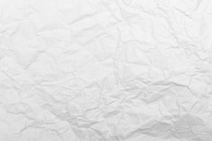 White paper crumpled texture background photo