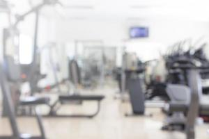 Abstract blurred fitness or gym background photo