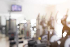 Fondo abstracto de fitness o gimnasio borrosa foto