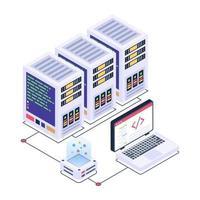 visualización de datos del servidor vector