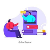 Online Course and Lecture vector