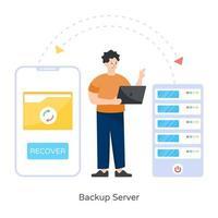 Back up Server vector
