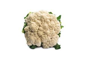 Fresh Cauliflower isolated on white background photo