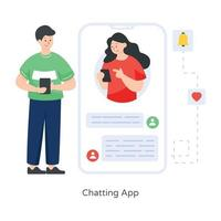 Chatting Mobile  App vector