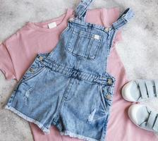 Set of children's clothes photo