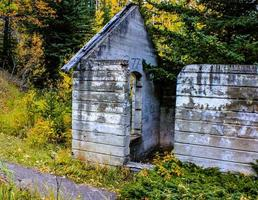 Remnants of an old coal mining town. Lower Bankhead, Banff National Park, Alberta, Canada photo