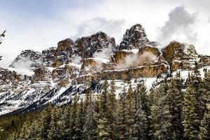 Castle Mountain in the winter. Banff Natiuonal Park, Alberta, Canada photo