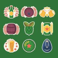 Beer Day Festivity Stickers vector