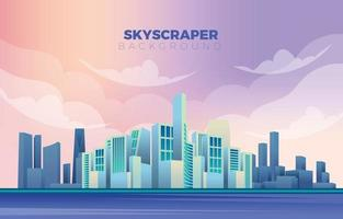 Modern Skyscrapers on the Horizon Background vector