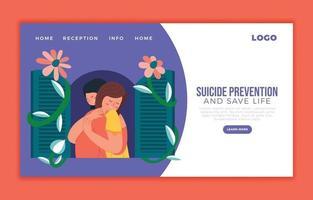plantilla de página de destino de prevención del suicidio vector