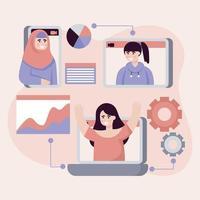 Doing Virtual Meeting vector
