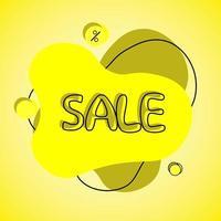 Yellow sale banner vector