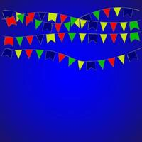 Garland flag in party and enjoyment concept. Celebration background template. Vector illustration
