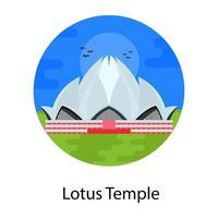 templo de loto culto indio vector