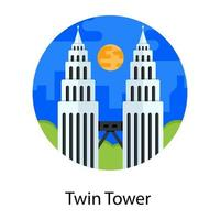 Twin Towers Monuments vector
