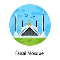Holy  Faisal Mosque vector