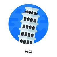 Pisa Tower Italy vector