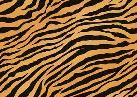 Horizontally And Vertically Repeatable Tiger Skin Seamless Vector Illustration. Exotic Animal Skin Pattern With Black Stripes.