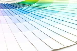 Sample colors catalog Pantone or color swatches book photo